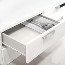 Organizador de Gavetas com Divisórias Grande Branco 36x12x4,8cm Ref. 5065 Arthi -