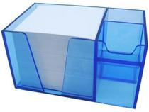 Organizador de mesa azul clear c/papel branco 954.2 Acrimet -