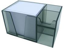 Organizador de mesa c/papel branco cor fume 954.1 - Acrimet
