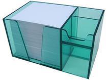 Organizador de mesa verde clear c/papel branco 954.5 Acrimet -