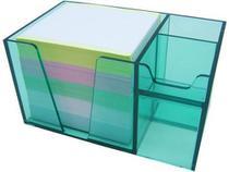 Organizador de mesa verde clear c/papel color 956.5 Acrimet -