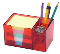 Organizador de mesa vermelho c/papel color 956.7 Acrimet -