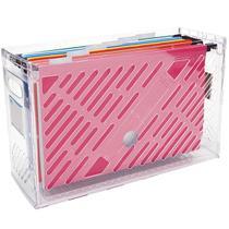 Organizador De Pastas Suspensas Dellocolor Caixa Arquivo Com 6 Pastas Suspensas Coloridas -