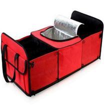 Organizador de porta malas viagem térmica carro sacola bolsa compras 3 divisórias bolso automotivo - Kangur
