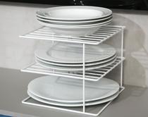 Organizador de pratos quadrado branco - Dicarlo