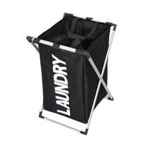 Organizador de roupas cesto para roupa suja lavanderia para banheiro cromado preto kangur - Makeda