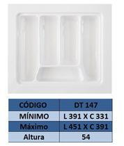 Organizador de talher ajustável  Medidas máximas: 451mm X 391mm) OG-147 - Moldplast
