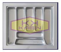 Organizador de talher ajustável Medidas máximas: 555mm X 495mm) OG-40 cinza - Organizador de talher cinza