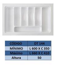 Organizador de talher ajustável  Medidas máximas: 660mm X 410mm) OG-144 - Moldplast