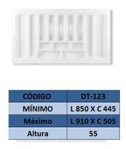 Organizador de talher ajustável  Medidas máximas: 910mm X 505mm) OG-123 - Moldplast