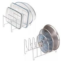 Organizador de tampas travessas pratos formas kit 2 unidades - Arthi