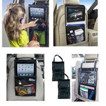 Organizador encosto banco de carro infantil porta tablet touch livros lanches treco com ajuste viage - Makeda