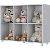 Organizador Estante de Brinquedos Infantil Nicho Decorativo Branco Quarto - Henn -