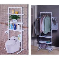 Organizador estante de chao para banheiro vaso sanitario com prateleira arara ajustavel multiuso - MAKEDA