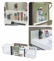 Organizador Multiuso Cristal de Bancada Banheiro Esmalte N700 Niquelart -