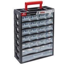 Organizador Multiuso de Plástico com Alça 23 Gavetas 31,5x14x44,5cm Worker -