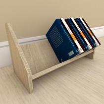 Organizador para livros amadeirado claro - E-Nichos