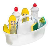 Organizador Plástico Sanremo Hydrus para Produtos de Limpeza Cristal 6lts -