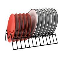 Organizador Suporte Porta Pratos Vertical Aramado Armário Cozinha  Elegance -  Dicarlo -