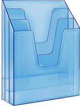 Organizador vertical 3 divisões azul clear 864.2 - Acrimet