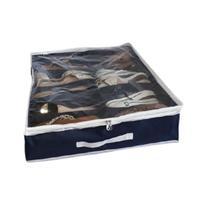 Organizadora de chão porta sapato Flexível azul marinho - Allstate