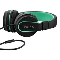 Over Ear Wired Stereo Áudio Preto E Verde - Ph159 - Pulse