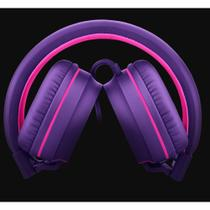 Over Ear Wired Stereo Áudio Pulse Roxo PH161 -
