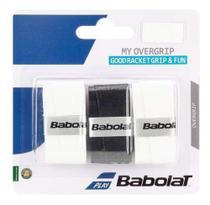 Overgrip Babolat My Grip X3 Preto E Branco -