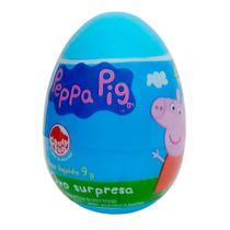 Ovo Surpresa Peppa Pig DTC Personagens Sortidos Pastilhas Sabor Morango e Cola 9g + Surpresa Ref 4295 -