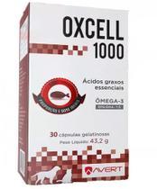 Oxcell 1000 Ômega 3 cápsulas para cães e gatos 43,2 g - Avert
