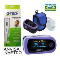 Oximetro De Dedo Digital Com Curva GTECH + Termometro GTECH -