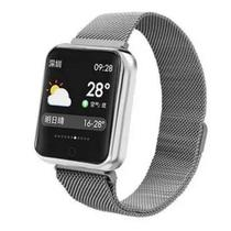 P80s Relógio Smartwatch Compativel iPhone Samsung Lançamento PRATA -