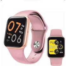 P80s Relógio Smartwatch Compativel iPhone Samsung Lançamento ROSA -