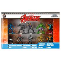 Pack 10 Personagens Marvel Avengers Nano Metal Figs Jada 99254 DTC 4281 -