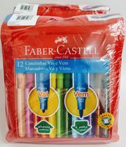 Pack 12 Unid Canetinha Vai e Vem 12 Cores - Faber Castell -