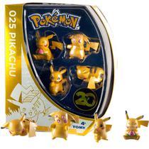 Pack 4 Mini Figuras Pikachu 20th Anniversary Pokemon Tomy -