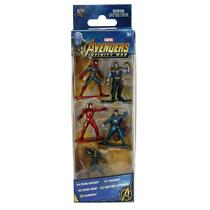 Pack 5 Personagens Marvel Avengers Nano Metal Figs Jada 99919 DTC 4280 -