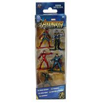 Pack 5 Personagens Marvel Avengers Nano Metal Figs Jada 99919 DTC 4280 -
