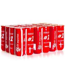 Pack c/ 10 Bolas de Tênis Premium AX Esportes Tubo com 3 -