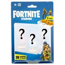 Pack com 3 Figuras Surpresas Carimbos Fortnite Sunny 2063 -