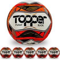 Pack com 6 Bolas de Futsal Topper Slick II -