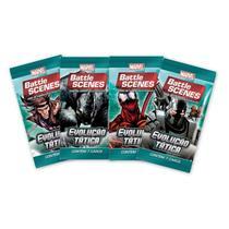 Pack de cartas Marvel Battle Scenes: Evolução Tática em português -