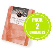 Pack Pedra Sal Rosa do Himalaia - 2 unidades - 30X20Cm - Smart - 5Kg -