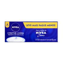 Pack sabonetes com hidratante em barra nívea - 1367 - Nivea