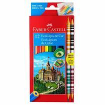 Pacote c/12un lapis de cor 10cores+2 bicolor  faber castell - Faber-Castell