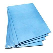 Pacote Com 100 Folhas A4 Papel Sublimatico A4 100g Fundo Azul - Evolut