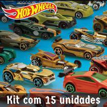 Pacote com 15 carrinhos Hot Wheels Mattel sortido sem repetição - Hot Hweels