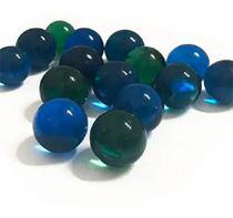 Pacote com 50 bolinhas de gude em tons azul escuro e claro - Costero