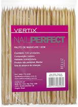 Pacote palito de manicure vertix 100un -