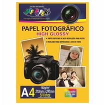 Pacote Papel Foto Fotográfico High Glossy 180g A4 Off Paper -